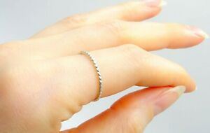 Stacking minimalistic 925 sterling silver ring thumb silver wire elegant
