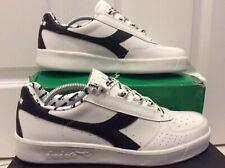Diadora Borg Elite Classic Uk 9.5 White Leather Heritage BNBWT