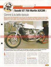 SUZUKI GT 750 MARTIN A2C2M Proto Joe Bar Team Fiche Moto #007092