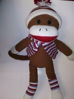 "Dan Dee Brown  Sock Monkey 25"" Plush Stuffed Animal"