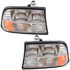 Pair Set Headlights Headlamps for Oldsmobile Bravada Gmc Jimmy Sonoma Pickup (Fits: Oldsmobile Bravada)
