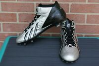 Adidas Quickframe High Top Football - Black/Silver Cleats Men's Size 14