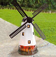 Solar Powered Light & Motion Windmill Garden