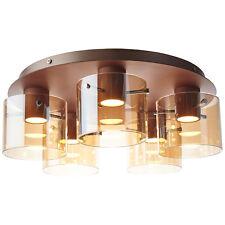 Luz de Techo Led Lámpara Iluminación Beth Cobre Mate Ámbar 5 Focos Regulable