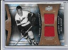GORDIE HOWE 2009-10 UD ARTIFACTS FROZEN ARTIFACTS DUAL GAME USED JERSEY#/199