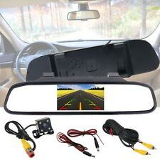 4.3'' Car LCD Rearview Mirror Monitor + Camera Backup Auto Switch Reverse Set