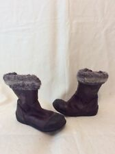 Girls Clarks Brown Leather Boots Size 6F