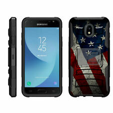 For Samsung Galaxy J Series Phone Case Hybrid Holster Clip Armor American Flag
