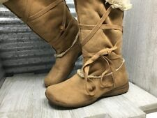 348ac02d77fb Canyon River Blues Tan Nude Flat Woman s Driving Heel Boot Round Toe Size  7.5