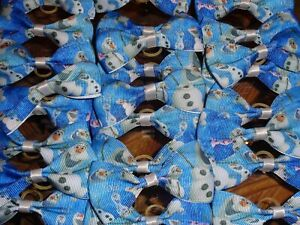 Pack Of 24 Christmas Dog Grooming Top Knot Bows OLAF SNOWMAN