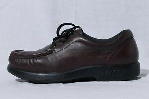 SAS Take Time Women's Brown Leather Orthopedic Diabetic Comfort Shoes sz 8M