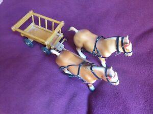 steha kinderspielzeug 50er jahre pferdegespann mit wagen