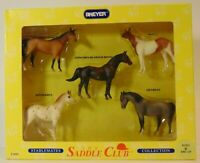 RARE 1994 STABLEMATES 5 pc BREYER The Saddle Club Set #5650 Horse Arabian Draft