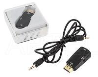 CONVERTITORE ADATTATORE DA HDMI A VGA CON CONNETTORE D-SUB + AUDIO
