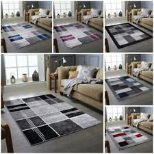MODERN DESIGN RUG SILVER GREY SOFT LARGE LIVING ROOM FLOOR BEDROOM CARPET RUGS