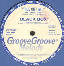 BLACK BOX - Ride On Time - 1989 - Groove Groove Melody - GGM 8901 - Ita