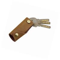 Vintage Style Minimalist Leather Key Chain Holder Case