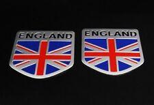2 United Kingdom UK England Flag Emblem Badge Car Body Exterior Decal Sticker GB