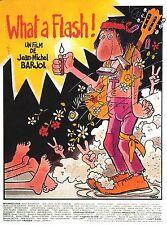 Affiche 120x160cm WHAT A FLASH ! (1972) Lafont, Coffe - illustration Tardi NEUVE
