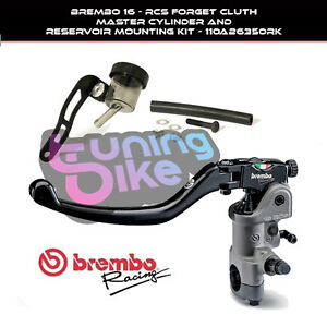 BREMBO RADIAL CLUTCH MASTER CYLINDER 16RCS + OIL TANK KIT FOR DUCATI HYPERMOTARD