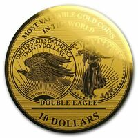 2019 1/100 oz Gold Million Dollar Collection Gold Coin Double Eagle Solomon Isl