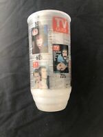 Vintage Collectible TV Guide Plastic Drinking Glass Years 50-60-70-80 & 90's