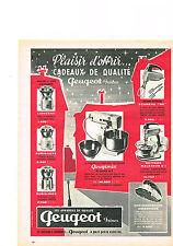 PUBLICITE ADVERTISING 1959  PEUGEOT frères   appareils ménagers de cuisine