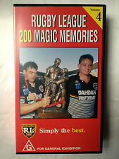 RUGBY LEAGUE ~ 200 MAGIC MEMORIES ~ALLAN LANGER ~ VOLUME 4 ~  RARE VHS VIDEO