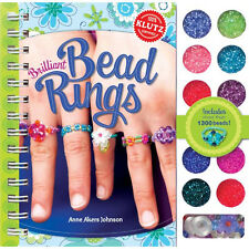 BRILLIANT BEAD RINGS - MAKE YOUR OWN BEADED RINGS KIDS KLUTZ BOOK & ACTIVITY KIT