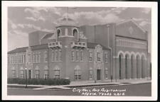 MEXIA TX TEXAS City Hall & Auditorium Vtg RPPC Postcard