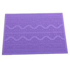 Flower Pattern Silicone Mat Fondant Cake Lace Embossed Cake Mold Mould Purple