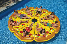 Giant Inflatable Pizza Slice Swimming Pool Float Raft Lounger Lake Mat Pool Toy