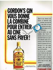 Publicité Advertising 1988 Gordon's Dry Gin