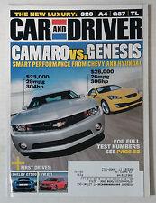 CAR DRIVER AUTOMOTIVE MAGAZINE 2009 JUNE CAMARO TIBURON SHELBY GT500 VW GTI