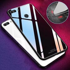 9H Tempered Glass TPU Hybrid Case for Huawei Y5/Y6 /Y7 /Y9 2018 Shockproof Cover