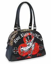 Liquor Brand Hot Rod Hellcat Red BaronWolf Bowler Bag Gothic Rockabilly Handbag