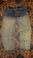 WOW Women's Faded Denim Jeans ARMANI A/X EXCHANGE Boyfriend 26 Cropped $120 NWT
