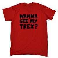 Funny Kids Childrens T-Shirt tee TShirt - Wanna See My Trex Black Dinosaur T-Rex