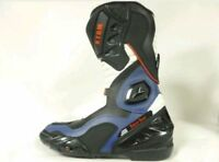 XTRM BLADE MOTORBIKE MOTORCYCLE SPORTS ARMOUR ON ROAD BOOTS BLUE UK SIZE 12