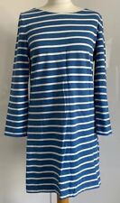 Boden Blue Striped Tunic / Short Dress 3/4 Sleeves Size 12 Medium M