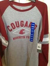 Washington State Cougars Large Spirit Shirt Long Sleeve Adult Large 42/44 Licens