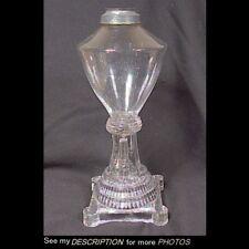 1830-40s Boston & Sandwich era Whale Oil Lamp Free Blown Pressed Base