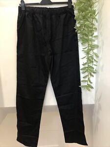 BNNT ALEXANDRA Elasticated Waist Workwear Trousers Size L Black RRP £9.99