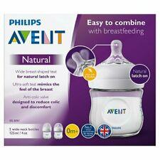 Philips Avent NEW MODEL Natural Twin 125ML Feeding Bottles