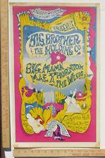 Big Brother Joplin BigMamaMaeThornton CaliforniaHall ConcertPoster 1967 Aor2.152