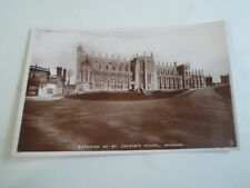 Vintage Real Photo Tuck Postcard EXTERIOR ST GEORGE'S CHAPEL, WINDSOR     §A660