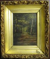 ANTIQUE IMPRESSIONIST OIL LANDSCAPE PAINTING MILWAUKEE WI KRUMBHOLZ FINE ARTS
