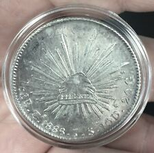 1886 Zs MEXICO FAT SILVER 8 REALES ZACATECAS MINT VALUE $750+?