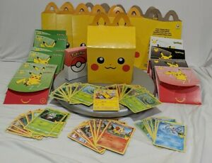 Mc Donalds Pokemon Cards Happy Meal -Lot 6 meal boxes/43 cards + more Great cond