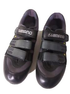 SHIMANO SPD Men's EU 41 US 7.5 CLIPLESS CYCLING BIKE SHOES SH-T 092 BLK  W/CLIPS